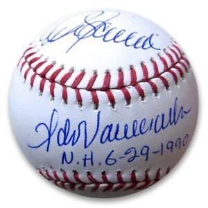 Fernando Valenzuela Mike Scioscia Signed Autographed Baseball 1990 No Hitter MLB