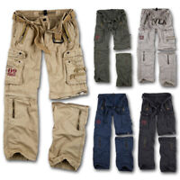SURPLUS ROYAL OUTBACK VINTAGE TROUSERS ZIP SHORTS RAW CARGO COMBAT PANTS MILITAR