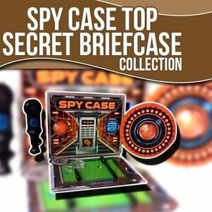 SPY Master Briefcase Top Secret Includes 16 Page Adventure Book and SPY KIT