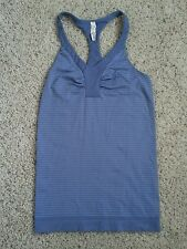Under Armour Womens Tank Top Small SM Purple All Season Gear Fitted Striped