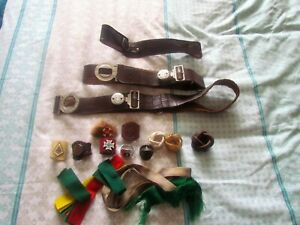 Vintage SCOUTS COLLECTION OF BELTS,TOGGLES AND RIBBONS