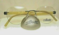 Silhouette 5506 SPX/Titanium 6565 Pewter/Horn 21-140  Rimless Eyeglass Frame NEW
