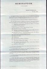 MEMORANDUM HORSE GUARDS 1860 QUEEN VICTORIA REVIEW VOLUNTEER RIFLE CORPS
