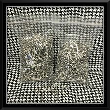 """1000 Stainless Steel Hog Rings 3/4"""" 14 g Upholstery Fences Cages over 1lb."""