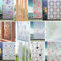 Static Cling Stained Frosted Floral Glass Window Door Film Sticker Privacy Decor