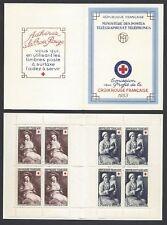 FRANCE FRANCIA 1953 Carnet Croix Rouge Francaise MNH**