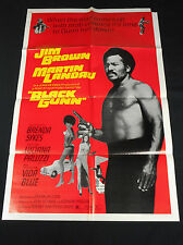 BLACK GUNN 1972 * JIM BROWN * MARTIN LANDAU * BLAXPLOITATION ONE SHEET * L@@K!!!