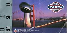 1984 1985 SUPERBOWL XIX SAN FRANCISCO 49ERS MIAMI DOLPHINS TICKET STUB MARINO