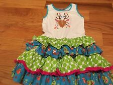 New Boutique Jelly the Pug Deer Woodland Owl Fox Dress size 8 Back To School