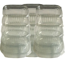 Plastic Hinged Food Salad Containers Clear Ideal for Fruit Cake Display SQUARE