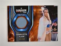 2019 Topps WWE Smackdown Live Mat Relic Orange #MR-4H Charlotte Flair /50