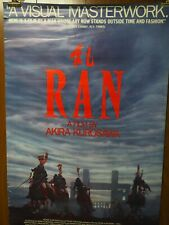 Ran a Film by Akira Kurosawa 1985 One Sheet Movie Poster