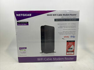 NEW - NETGEAR C3700 N600 Wi-Fi Cable Modem Router Up to 600 Mbps