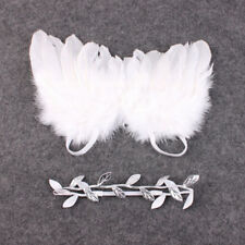 Newborn Baby White Angel Wings Headband Costume Photo Photography Props Nice BB