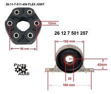 Driveshaft center Carrier Support Bearing Flex Disc Joint kit Fits BMW E36,E39