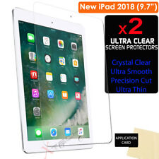"2x CLEAR Screen Protector Guard Covers for Apple iPad 9.7"" 2018 6th Generation"