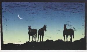"""PHIL EPP Award Winning Western Artist, """"Horses at Night"""""""