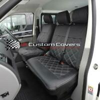 VW T4 TRANSPORTER 1996-2003 TAILORED LEATHERETTE FRONT SEAT COVERS 209