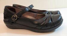 Dansko Mathilda Black leather Professional Mary Jane Clog 38 US 7.5-8 $145