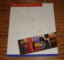 Original 1986 Chevrolet Full Line Sales Brochure 86 Chevy Corvette Camaro