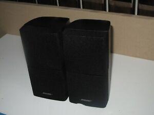 2 x BOSE BLACK DOUBLE CUBE SPEAKERS ACOUSTIMASS 5 10 15 LIFESTYLE 18 28 ETC