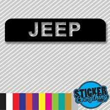 BIG BOLD JEEP 3RD BRAKE LIGHT STICKER DECAL COVER Fits 1997-2006 TJ  WRANGLER