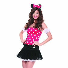 Adult Minnie Mouse Outfit Halloween Fancy Dress Costume B