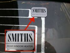 Smiths Heated Rear Window Sticker - Autocollant Adesivo Adesivi Aufkleber