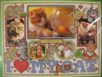 Janlynn I LOVE MY CAT Sealed Counted Cross Stitch Kit 11x8 Personalize Frame