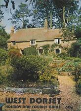 WEST DORSET HOLIDAY AND TOURIST GUIDE pub 1970's