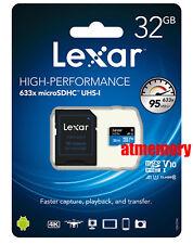 Lexar 32GB 32G 633x 95MB/s Micro SD SDHC Clase 10 UHS-I USB3.0 con adaptador de GoPro
