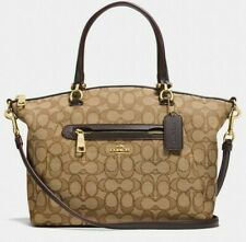 Coach Prairie Ladies Medium Leather & Canvas Satchel Handbag 58875