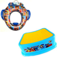 COMBO Paw Patrol Soft POTTY Toilet Training Seat + Step STOOL
