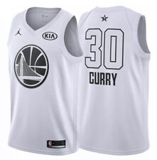 NIKE JORDAN NBA 2018 KIA ALL STAR #30 STEPHEN CURRY WHITE JERSEY MENS XXL/56
