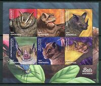 Grenada 2017 MNH Bats of Grenada 6v M/S Mastiff Fruit Bat Wild Animals Stamps