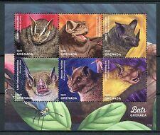 Grenada 2017 MNH Bats of Grenada 2v S/S Mastiff Fruit Bat Wild Animals Stamps