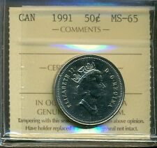 Canada 1991 50 cent Coin ICCS MS-65