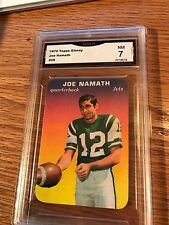 1970 Topps Super Glossy #29 Joe Namath GMA 7 New York Jets Football Card
