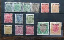 Burma 1937 to 2r SG1 - SG14 MM