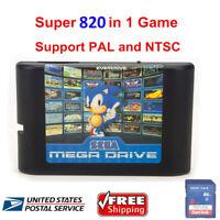 USA! 820 In 1 Video Game Cartridge For Sega Mega Drive for Sega Genesis consoles