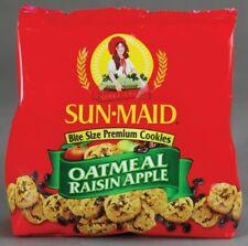 *6 bags*Sun Maid Bite Sized Premium Oatmeal Raisin Apple Cookies 5oz Snack Sweet