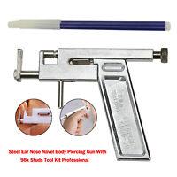 Pistola per piercing all'ombelico in acciaio per naso all'orecchio utensili A11