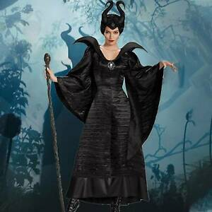 Maleficent Witch Evil Queen Cosplay Costume Fancy Dress Women Halloween Outfit