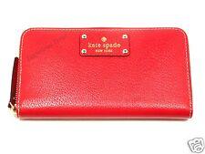 New! Kate Spade Garnet Neda Wellesley Zip Around Clutch Wallet WLRU1153