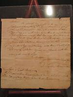ANTIQUE 1783 JEFFERSON CO VA KY CAPT ISAAC MORRISON 1st NJ REG REVOLUTIONARY WAR
