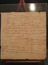 ANTIQUE 1783 JEFFERSON CO VA KY CAPT ISAAC MORRISON 1st NJ REG REVOLUTIONARY WAR