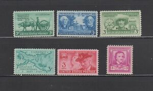 US,981-986,1949 COMPLETE YEAR,MNH VF-XF, 1940'S COLLECTION MINT NH,OG