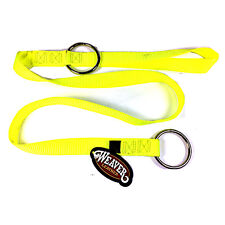 """Weaver Chain Saw Strap 49"""" with two Rings Yellow 0898220 Arborist FREE SHIPPING"""