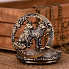 Retro Womens Men's Pocket Watch Pendant Handrail Old-fashioned vintage bronze U