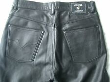 Versace Jeans Couture, Mens Leather Pants. Vintage 1990's Ultra soft and lined.